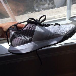 Nike Court Zoom Zero Tennis Sneakers White/Grey 6